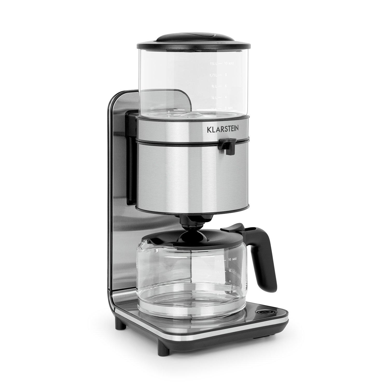 Klarstein Soulmate • Machine à café • Cafetière filtre 10 tasses •  Puissance de 1800 W • Volume de 1,25 L • Verre   inox  Amazon.fr  Cuisine    Maison a777c1b40e9b