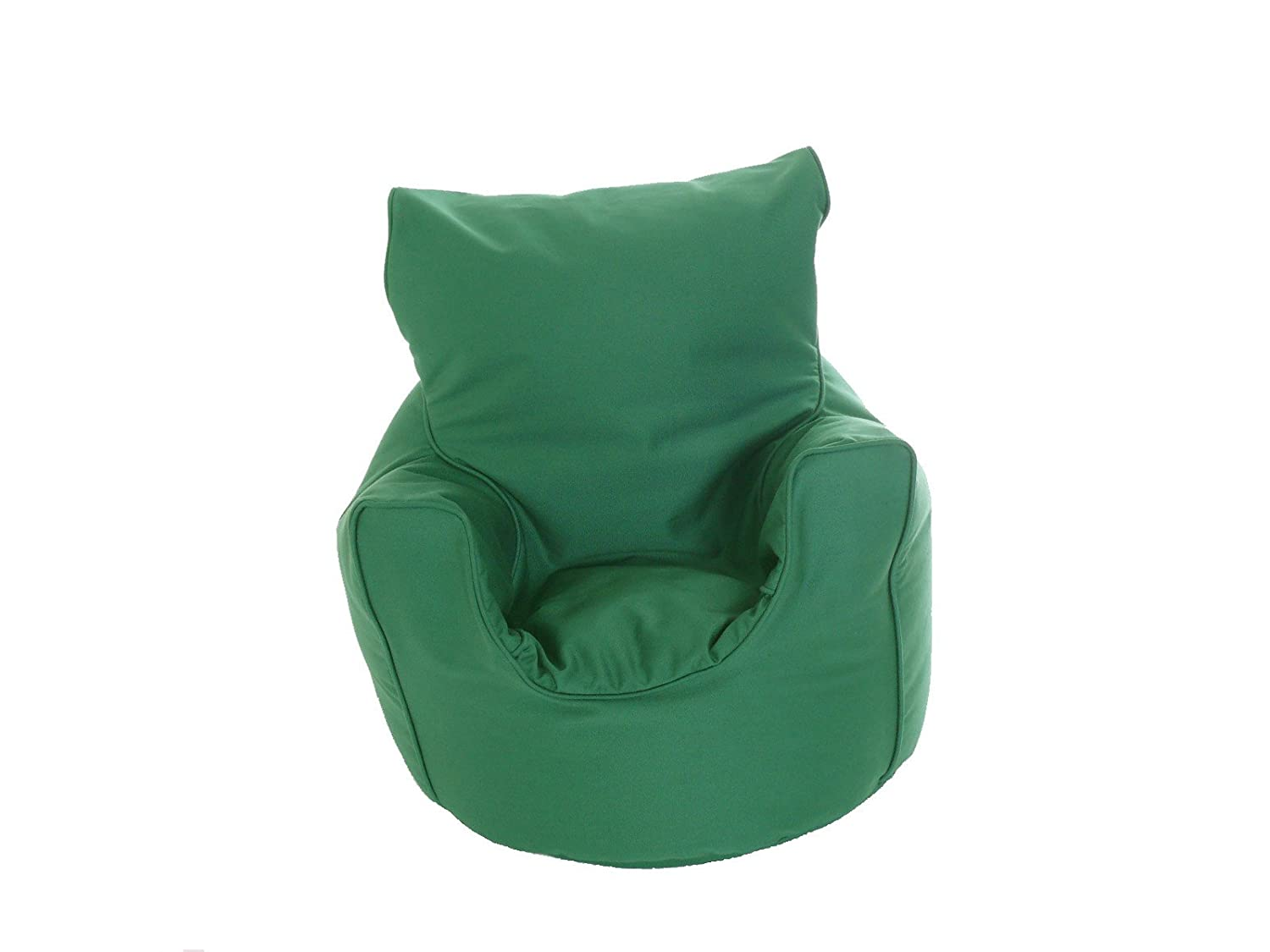 Kiddies Bean Bag Seat Arm Chair With Beans British Racing Green BeanLazy