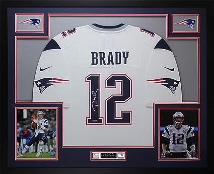Tom Brady Autographed White New England Patriots Nike Jersey