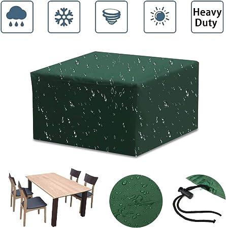 SUNDUXY Fundas mesas Jardin Exterior, Rectangular Funda Protectora, 210D Oxford Impermeable Tela Resistente al Desgarro, para Mobiliario de Exterior Mesa,180x120x70cm: Amazon.es: Hogar