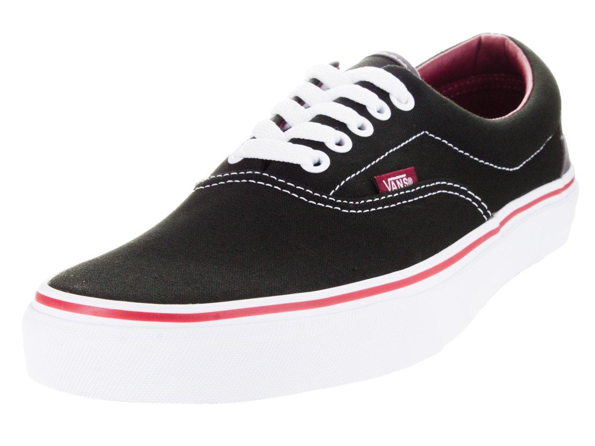 e9c201e012927e Galleon - Vans Unisex Era (Pop) Skate Shoe Black Rhubarb (12 D(M) US ...