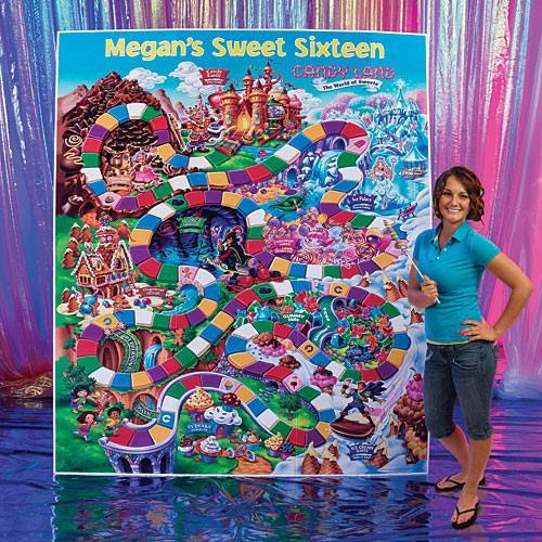 7 ft. 8 in. Candy Land Game Board Standee -