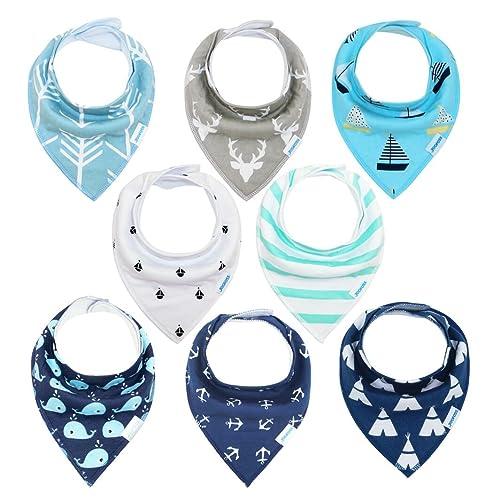 Baberos Bebe Baberos Bandanas para Bebés y Niños, 100% Algodón Orgánico de YOOFOSS