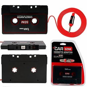 Audew Cassette Adaptador de la Cinta Estéreo del Coche 3.5mm para el iPhone iPod MP3