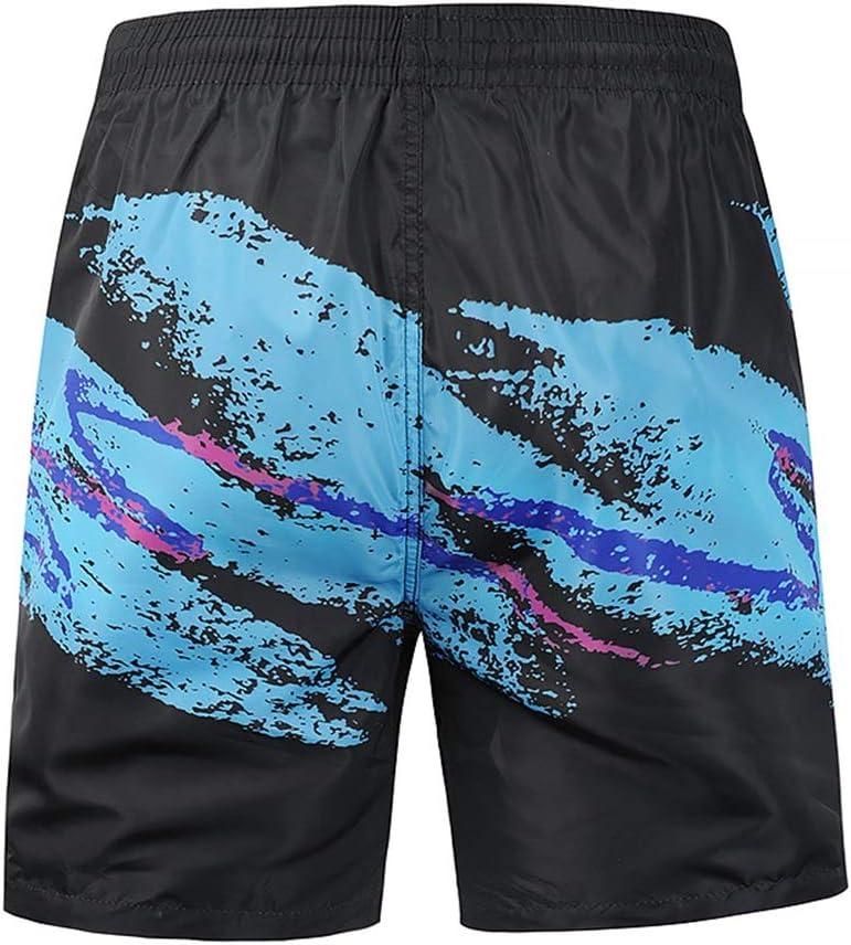 Color : Multicolor, Size : L Zhouminli Beachshorts Mens Boys Quick Dry Beach Broad Shorts Swim Pants