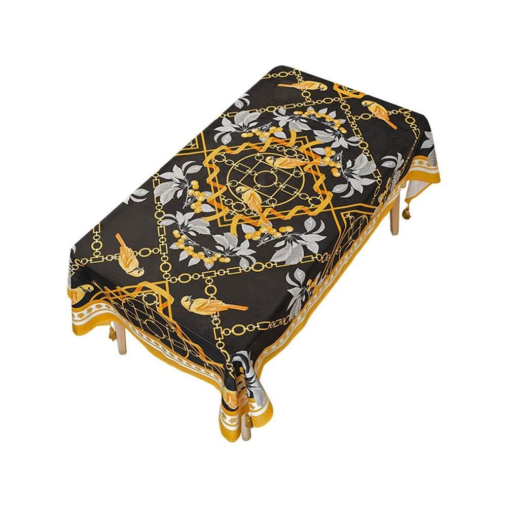 SCJ ゴールドのテーブルクロス、ビクトリア朝の花ビンテージ背景ビンテージグラフィックプリント、レストランキッチン長方形テーブルカバー、55 'x 94.5'(色:A、サイズ:55 * 78.7インチ) 55*78.7inch A B07S6Z2RMW