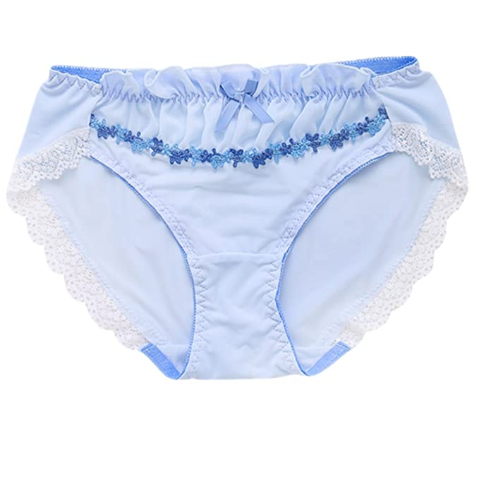 ffa0bb35813 TOMORI Womens Cute Lace Panties Lolita Girls Chiffon Japanese Underwear  Milk Silk Briefs (M