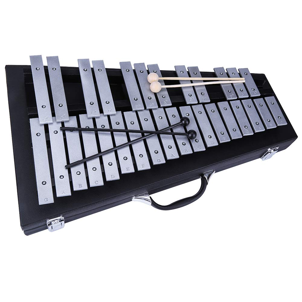 Yinama Foldable Glockenspiel Xylophone Professional Percussion Musical Instrument 30 Note