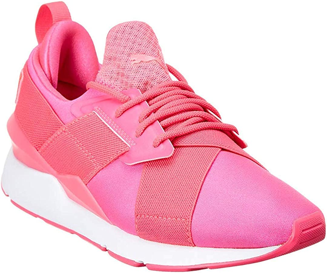 Amazon.com | PUMA Womens Muse Satin EP Pearl Casual Sneakers ...