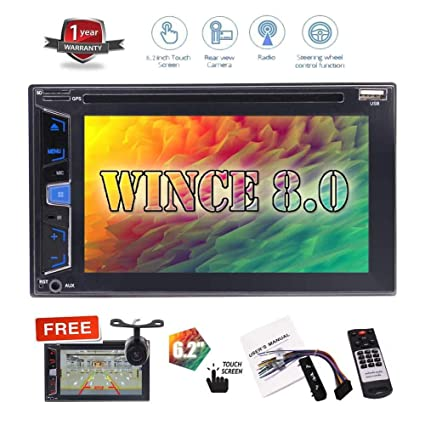 "Hotsale 6.2"" No GPS Navigation Car DVD Player Double 2 Din Automotive Stereo System Bluetooth"