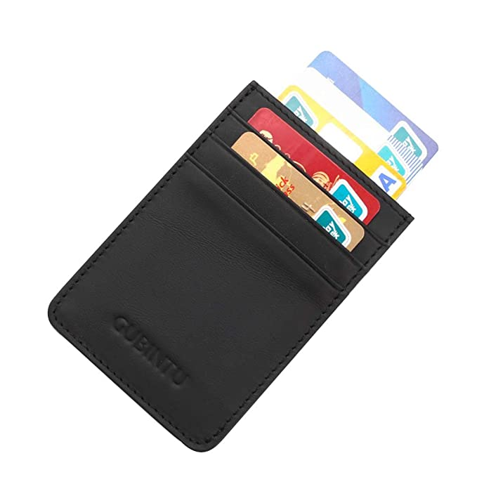 73d36d92a9bb RFID Blocking Wallet for Men, Retro Minimalist Slim Front Pocket ...