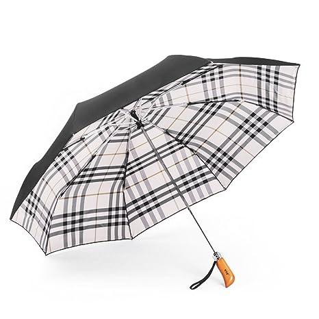 Paraguas plegables y compacto,Abre y Cierra Automáticamente Premium 210T Alta Calidad,con Toldos