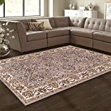 Cheap Superior Lille Collection Area Rug, 8mm Pile Height with Jute Backing, Woven Fashionable and Affordable, 8′ x 10′ – Grey