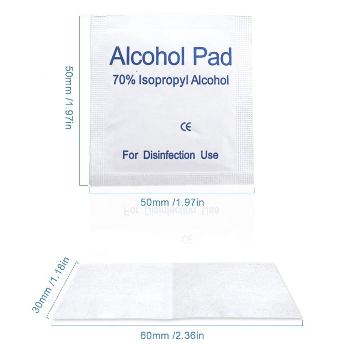 N-A 100pcs monouso cotone Sterilizzazione batuffolo imbevuto di alcool Pad primo soccorso Disinfezione