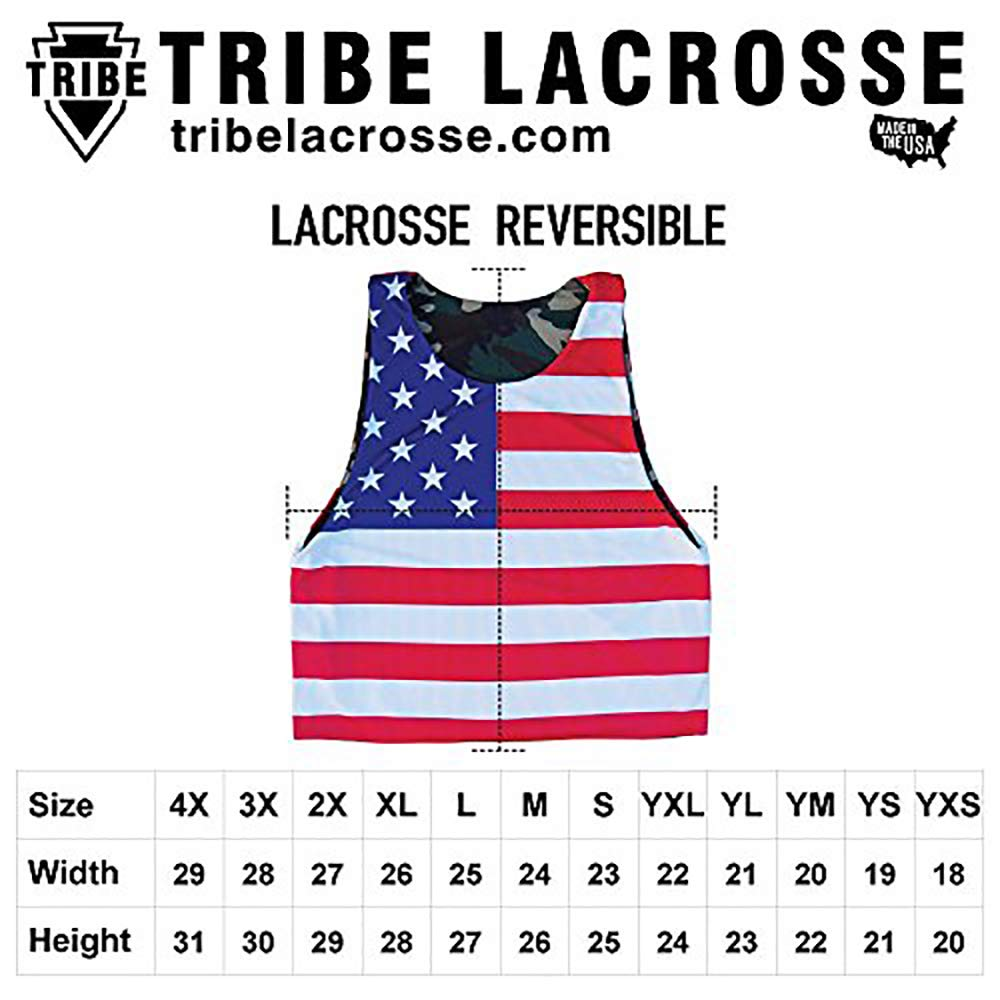 South Dakota State Flag and American Flag Reversible Lacrosse Pinnie
