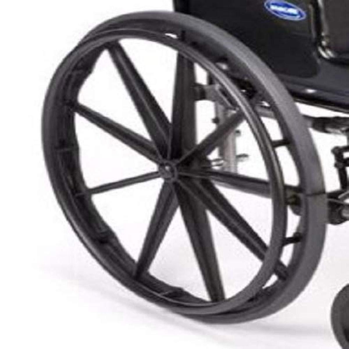 Invacare 1091816 One Arm Drive Wheel Assembly; Chrome Handrim