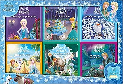 Disney La Reine Des Neiges Coffret 12 Livres Amazon Fr