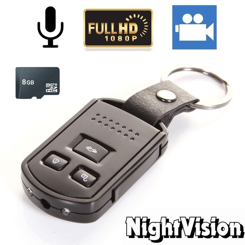 Electro-Weideworld - 8GB 1920x1080P HD Portátil Cámara Espía llavero Videocámara Grabador de Vídeo Detección de Movimiento Mini DV Cámara: Amazon.es: ...