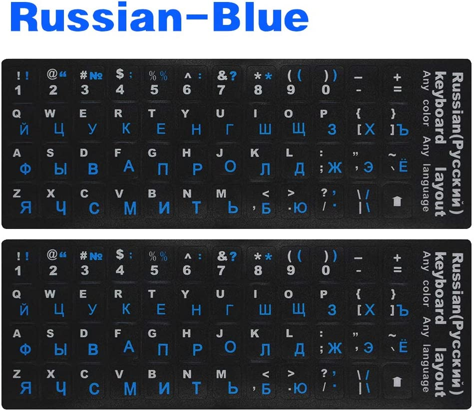 REPLACEMENT GERMAN KEYBOARD STICKERS BLACK BACKGROUND