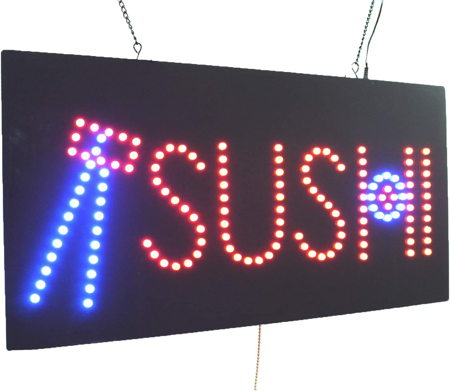 Store Grand Opening Gift Display Business Shop Window TOPKING Signage Sushi Sign LED Neon Open