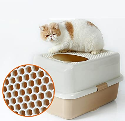 para Cat Aseo Casa Arenero para Gatos, Gatera PortáTil Grande, Aseo HigiéNico con Cubierta
