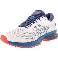 ASICS Gel-Kayano 25 Men's Running Shoe, White/Blue Print, 9.5 D(M) US