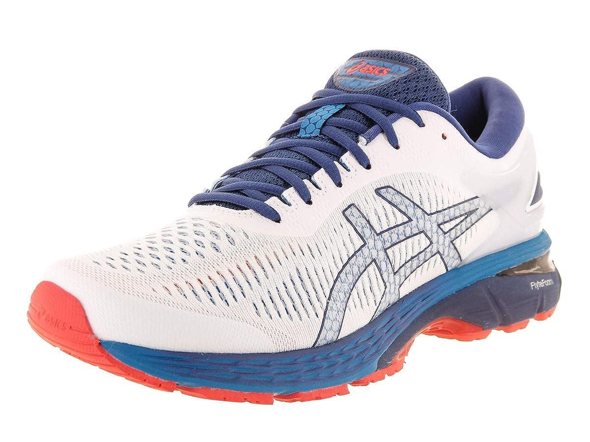 White   bluee Print ASICS Men's Gel-Cumulus 20 Running shoes 1011A008