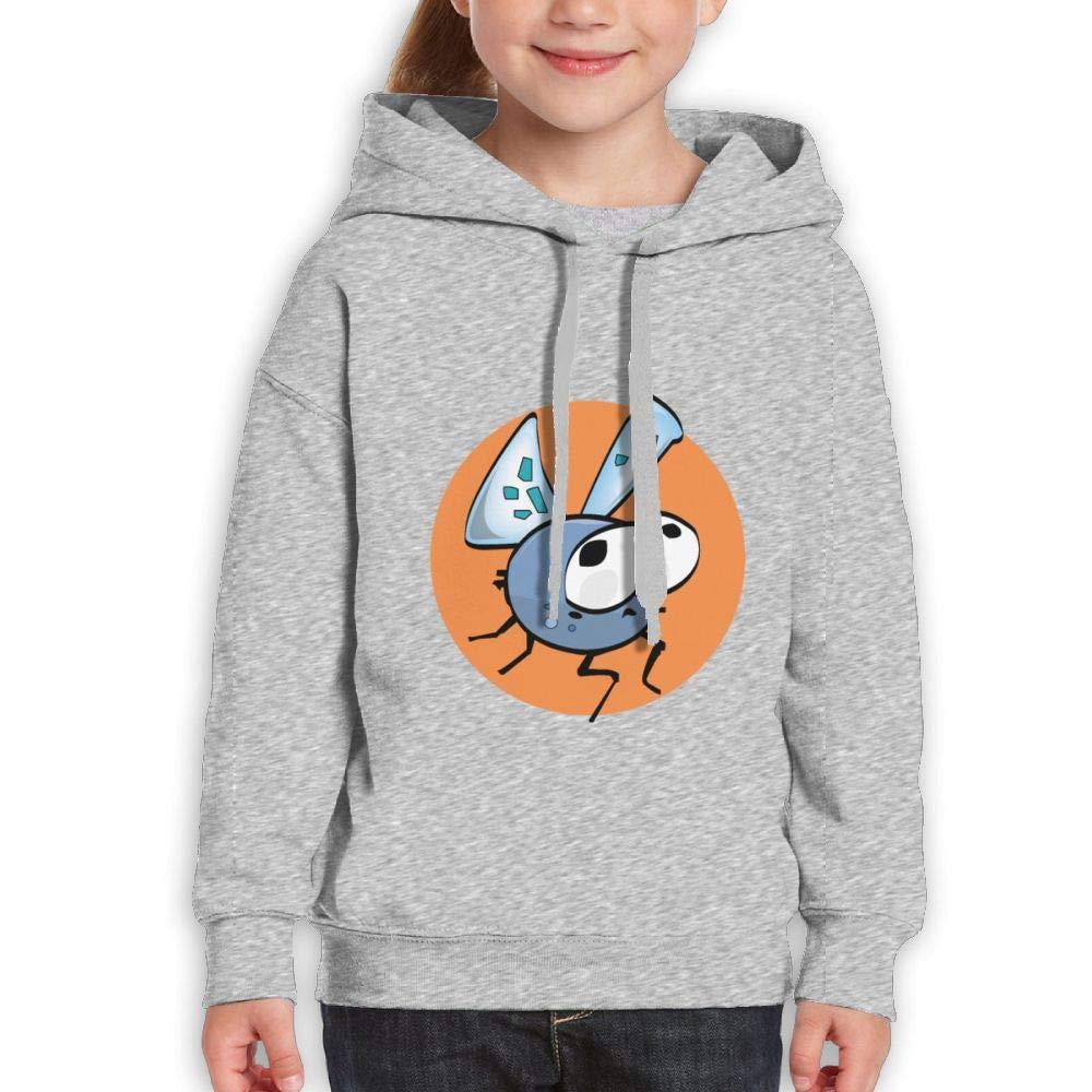 Qiop Nee Cute Flying Mosquito Childrens Hoody Print Long Sleeve Sweatshirts for Girls