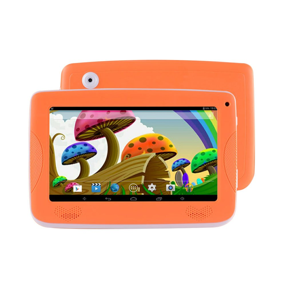 7'' Kids Tablet PC, Android 4.4 8GB ROM 1G RAM Tablet Dual Camera WiFi USB Phablet Silicone Case