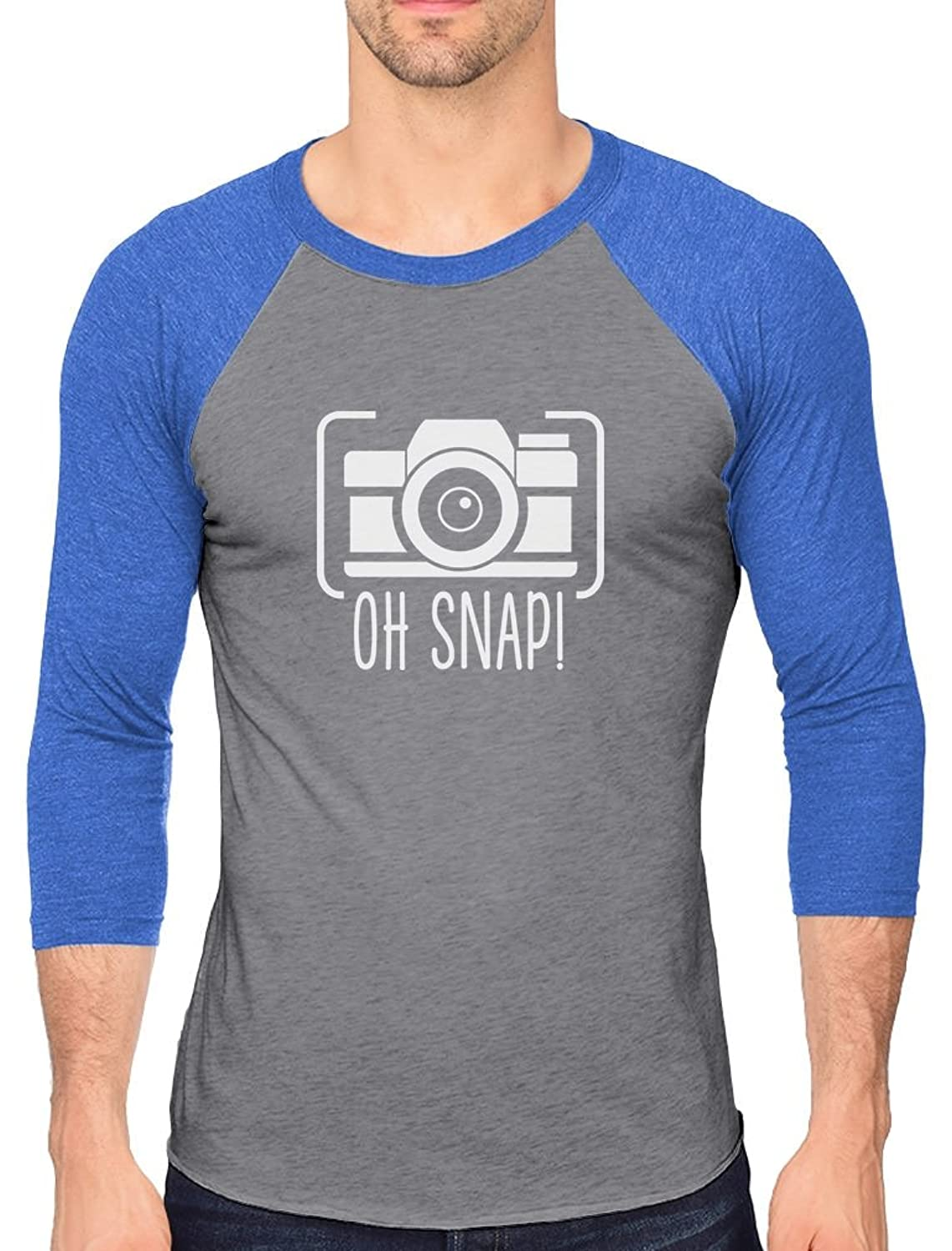 Oh Snap! - Gift for Photographer Funny 3/4 Sleeve Baseball Jersey Shirt for sale