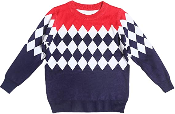 NIUBAO Baby Crewneck Cable Knit Striped Pullover Sweater Winter Tops Knitwear