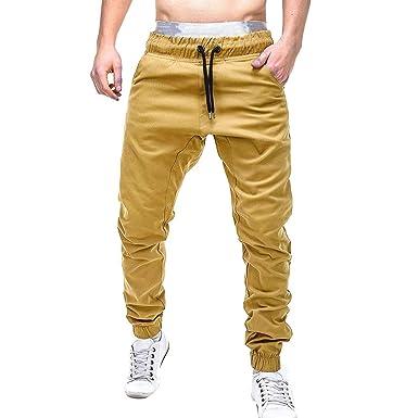 Cypapa - Pantalones de chándal para Hombre, monocromos, Ajustados ...