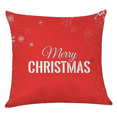 Heetey - Funda de cojín para decoración navideña ...