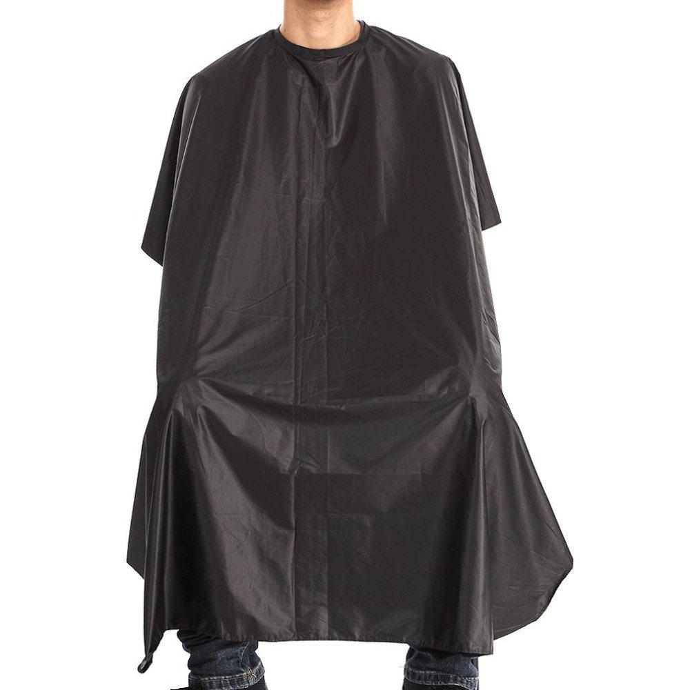 Barber Cape, Vanvler Waterproof Cutting Hair Cloth Gown Cape Hairdresser Salon (Black)