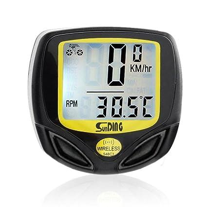hcfkj Agua Densidad Bicicleta velocímetro Wireless Cycle Bike metros Ordenador cuentakilómetros