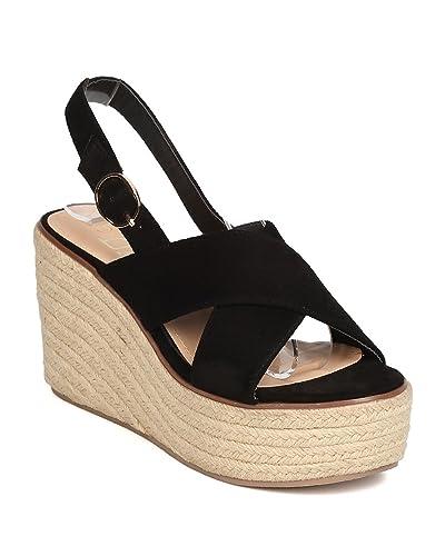 6b5c143abf7 Amazon.com | Women Faux Suede Espadrille Sandal - Dressy, Versatile ...