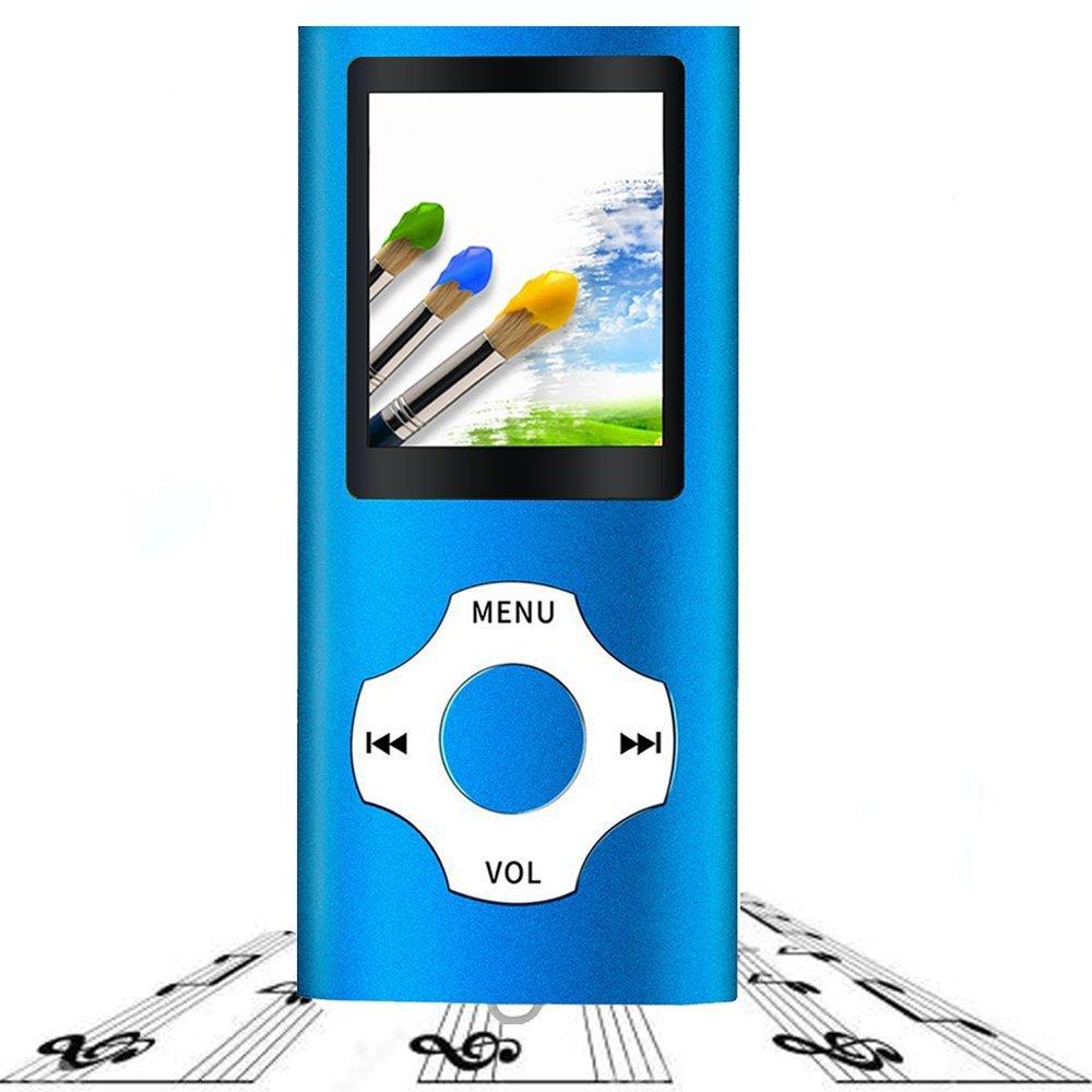 Tabmart Metal Hi-Fi - Lecteur multifonction MP3/MP4 portable 4 Go, é cran 1,8' haute ré solution, 10 heures d' autonomie - Bleu écran 1 8 haute résolution 10 heures d' autonomie - Bleu Auchter M03
