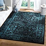 Cheap Safavieh Adirondack Collection ADR109K Black and Teal Oriental Vintage Distressed Area Rug (5'1 x 7'6)