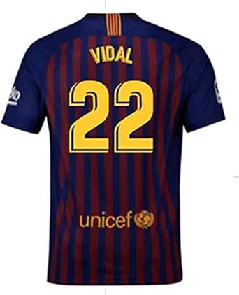 best sneakers de32a ad3a2 Amazon.com: LISIMKE Soccer Team 2018/19 Barcelona Home Vidal ...