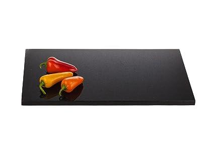 Granito künchenp Latte – Bandeja de servir seltenem negras Granito, piedra natural, rectangular,