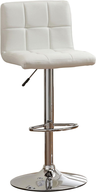 Furniture of America Mod Leatherette Barstool, White