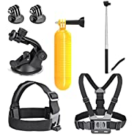 AKASO Accessories Gopro Accessories for AKASO EK7000 GoPro Hero Apeman Waterproof Action Camera Accessory Pack Set in Skiing Cycling Diving