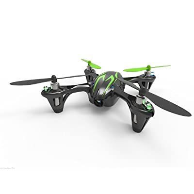 Hubsan H107C HD 61170-02 4 Channel 2.4GHz RC Quad Copter with HD Camera (Green/Black): Toys & Games