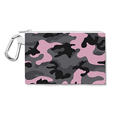 Dark Camouflage Pink - 2XL Canvas Pouch 13x10 inch - Canvas Zip Pouch - Multi Purpose Pencil Case Bag in 6 sizes