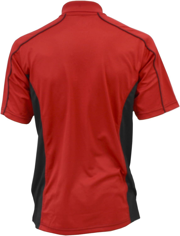Corvette C7 Performance Polo Shirt Black /& Red