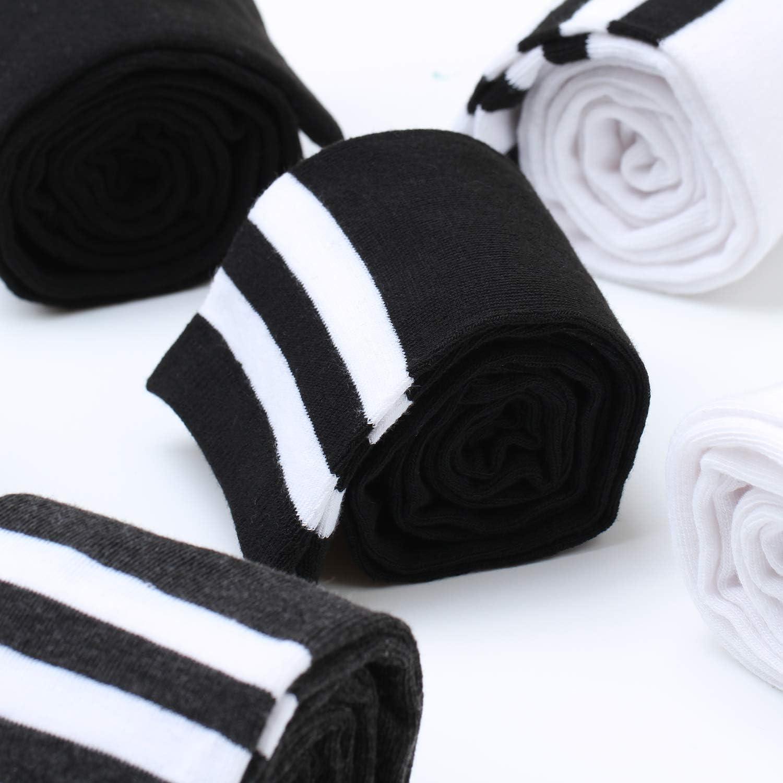 Aneco Lot de 6 paires de chaussettes montantes pour femme