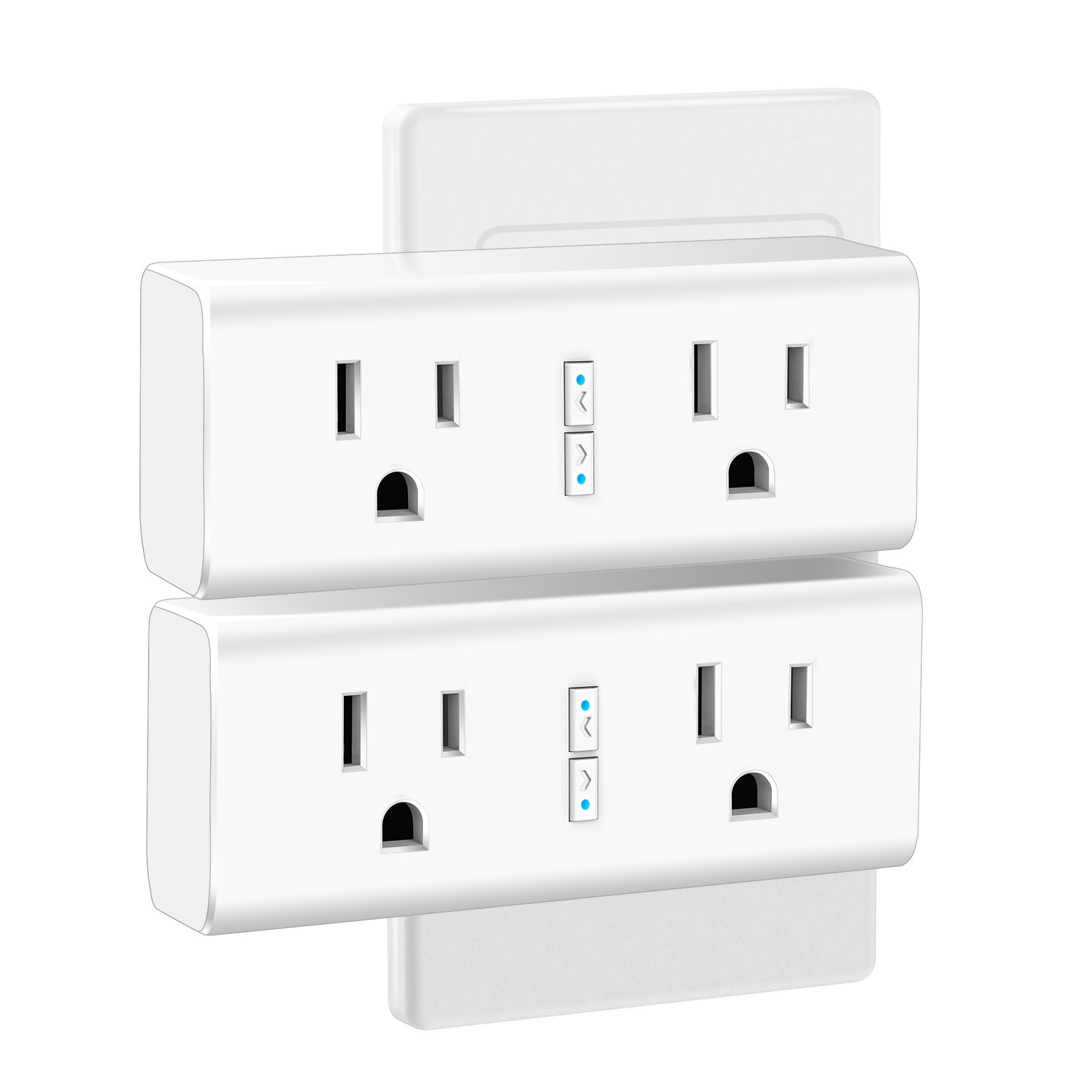 Anbes Wi-Fi Smart Plug Mini Outlet with Energy Monitoring, Alexa Plug Smart Socket Compatible with Alexa and Google Home, Timing Function, Dual Outlets Work Individually or in Groups (2 Pack)