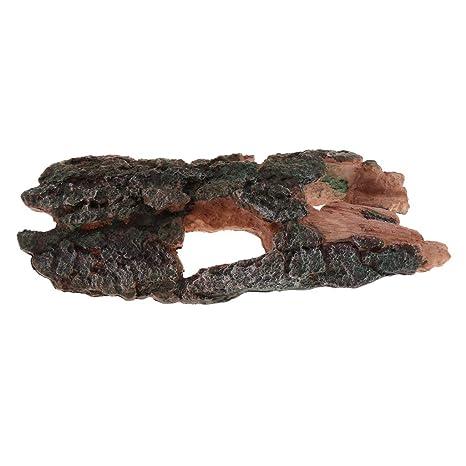 perfk Tronco Árbol Corteza Acuario Reptil Complimentos Pecera Acuario Plantado Fácilmente Cómodo