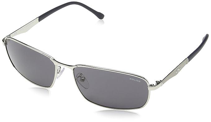 Grey Semi Palladium Smoke Razor 0589 2 Shiny Sunglasses 8744 Police J3lKcT1uF