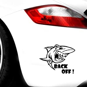 NA Tank car Sticker Decoration Large Marine Animals Shark Window Bumper Decal Tailgate Wall Fridge Ferocious 17.8x14.4 cm for Car Laptop Window Sticker